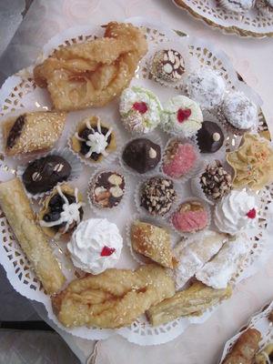 סלסלה עוגיות מרוקאיות מגוון עוגיות